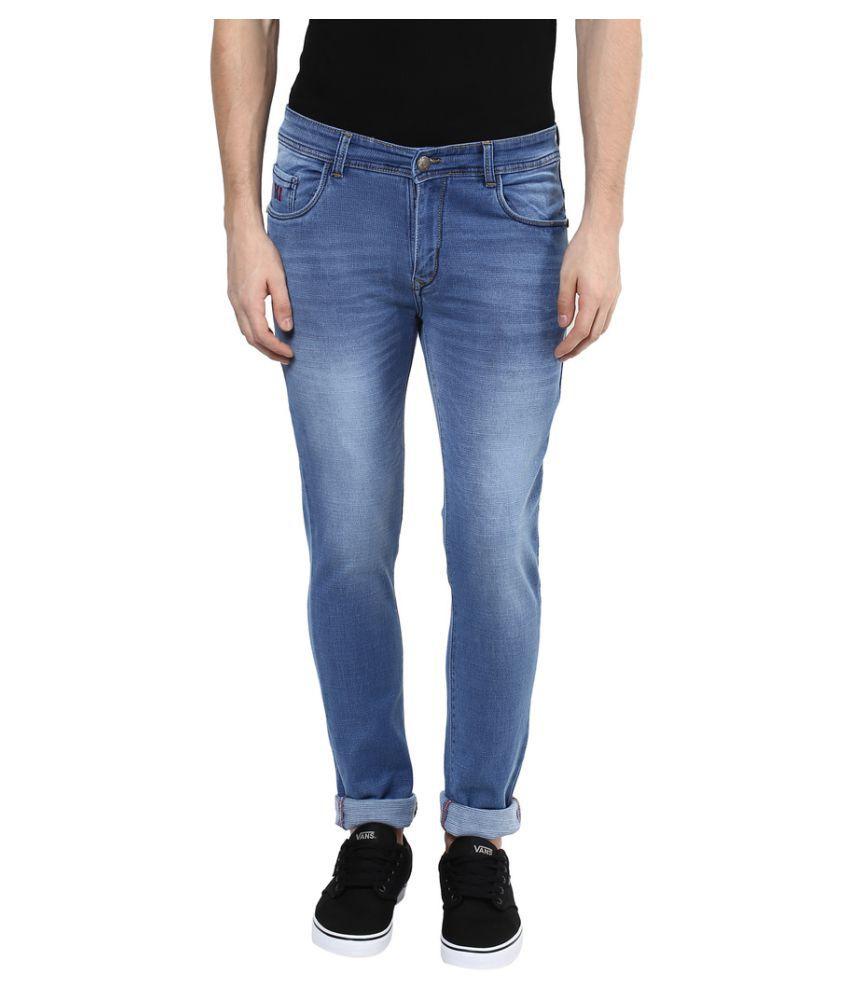 Yuvi Blue Slim Solid