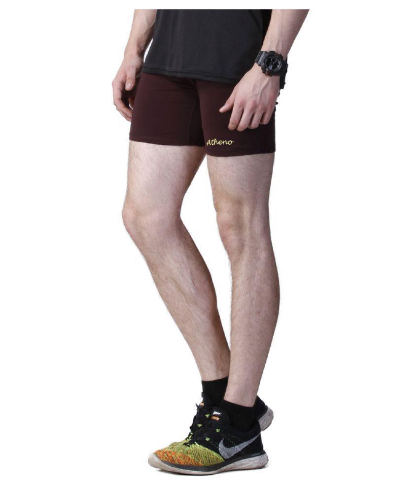 Atheno Brown Shorts