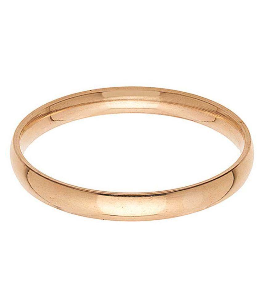 Memoir 10MM broad,High Gloss polished Pure Brass plain design 77gm Kada,for Men