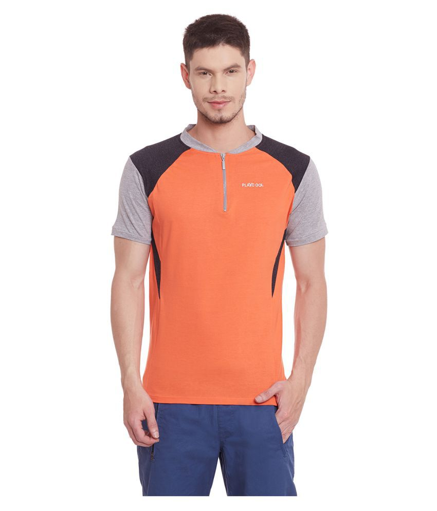 Yepme Orange Henley T-Shirt
