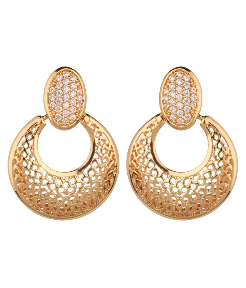 Beautiart Golden Drop Earrings