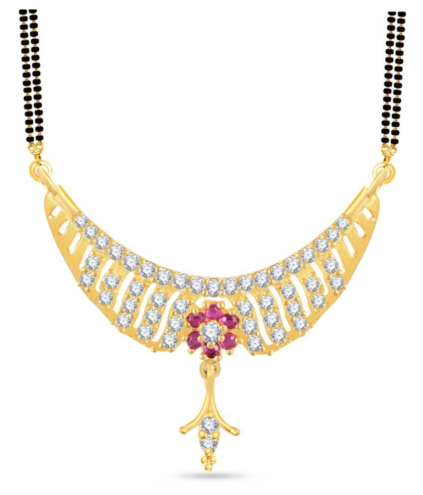 VK Jewels Gold Plated Alloy Mangalsutra for Women - MP1357G [VKMP1357G]
