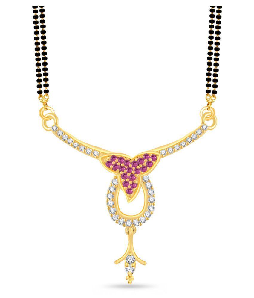 VK Jewels Golden Alloy Mangalsutra