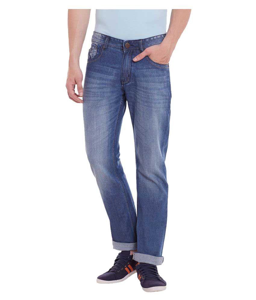 Yepme Blue Regular Fit Solid