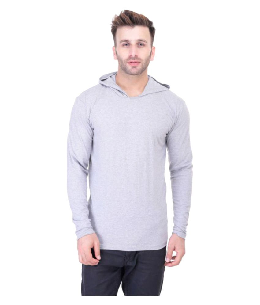 BI Fashion Grey Hooded T-Shirt