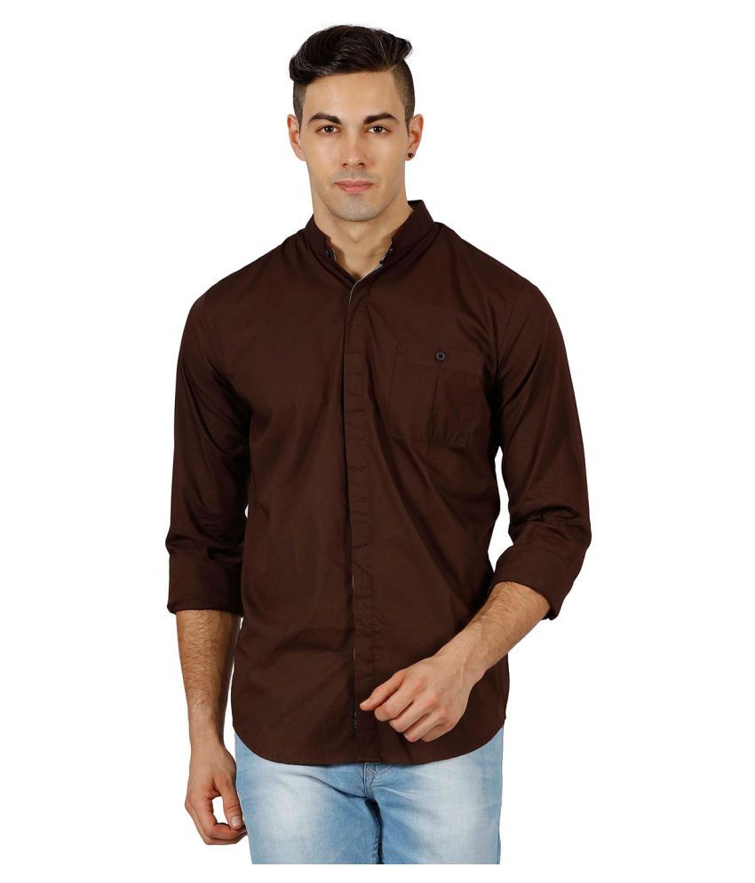 Meltin Brown Casuals Slim Fit Shirt