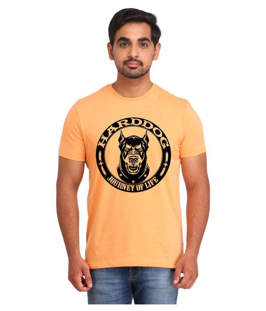 Snoby Orange Round T-Shirt