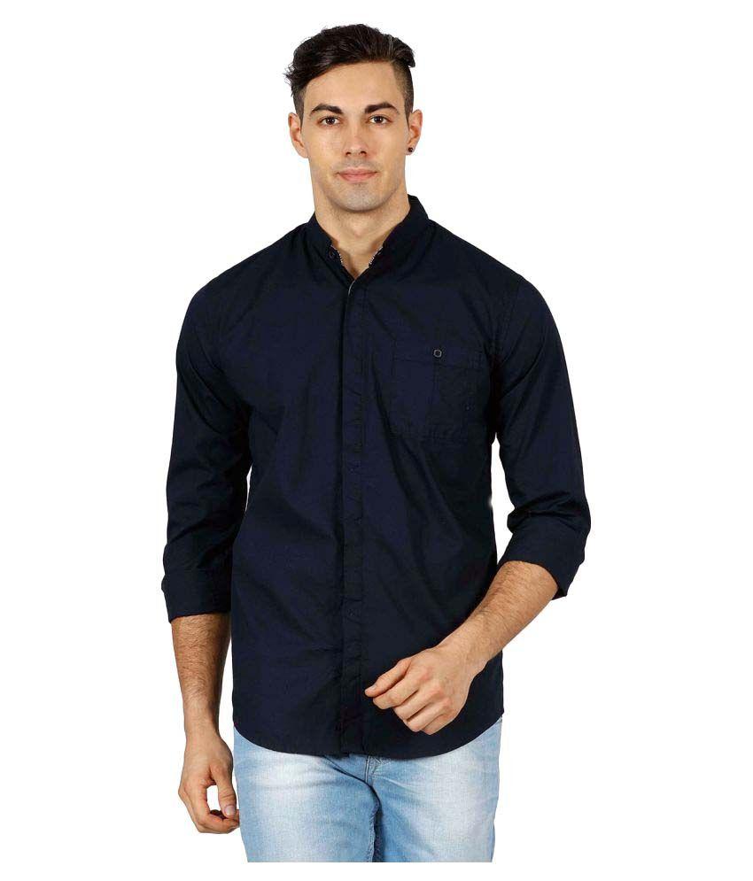 Meltin Navy Casuals Slim Fit Shirt