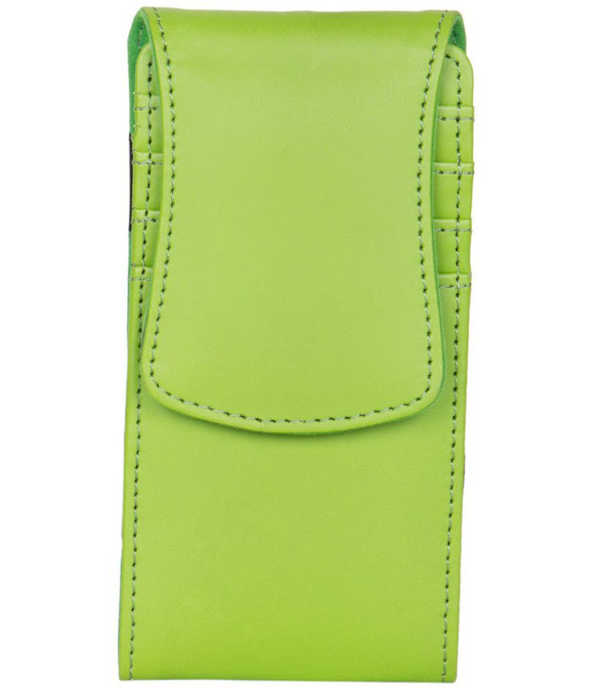 Micromax Bolt Q370 Holster Cover by Senzoni - Green