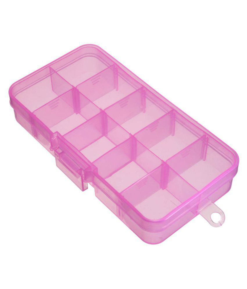 DIY Crafts 10 Slots Plastic Adjustable Box Case
