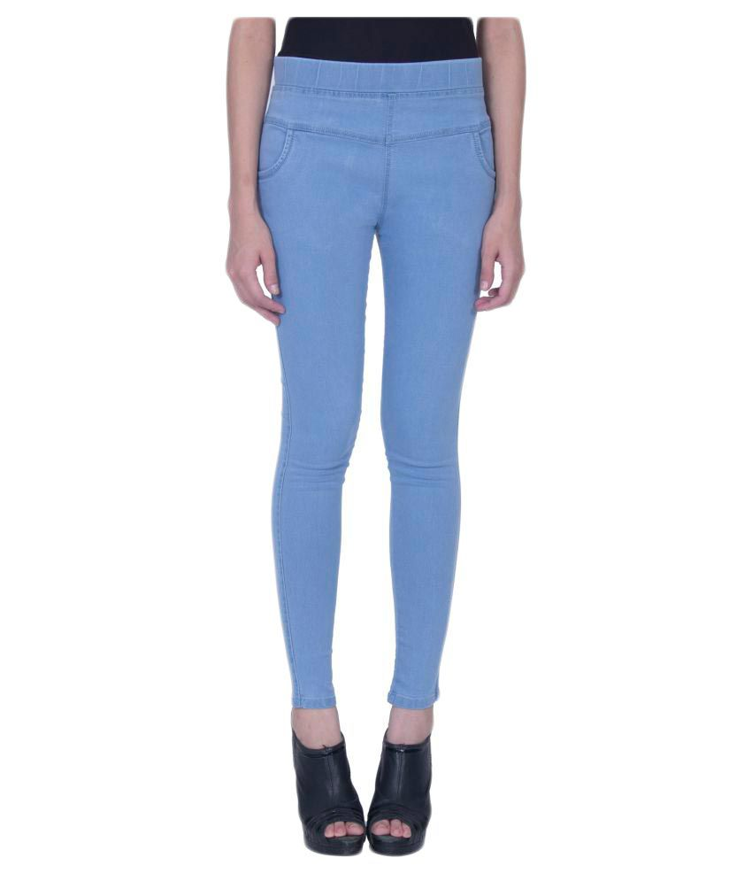 Damen Mode Denim Jeggings