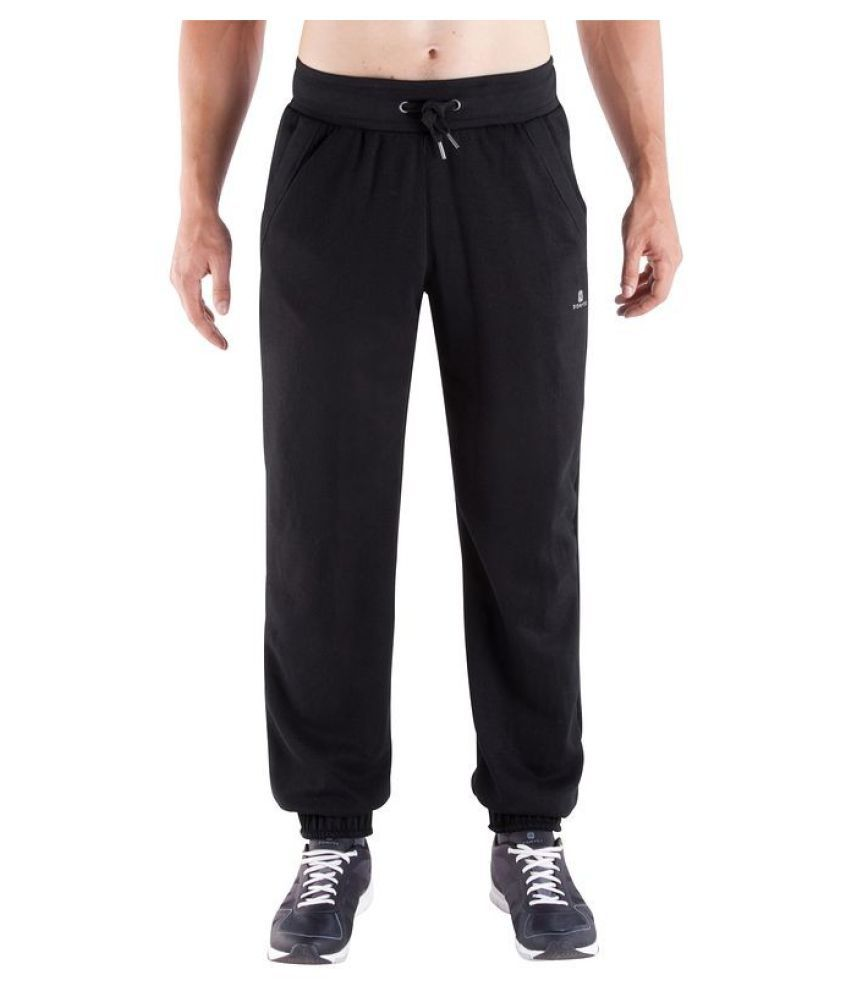 Domyos Black Body Building Regular Men Trackpants