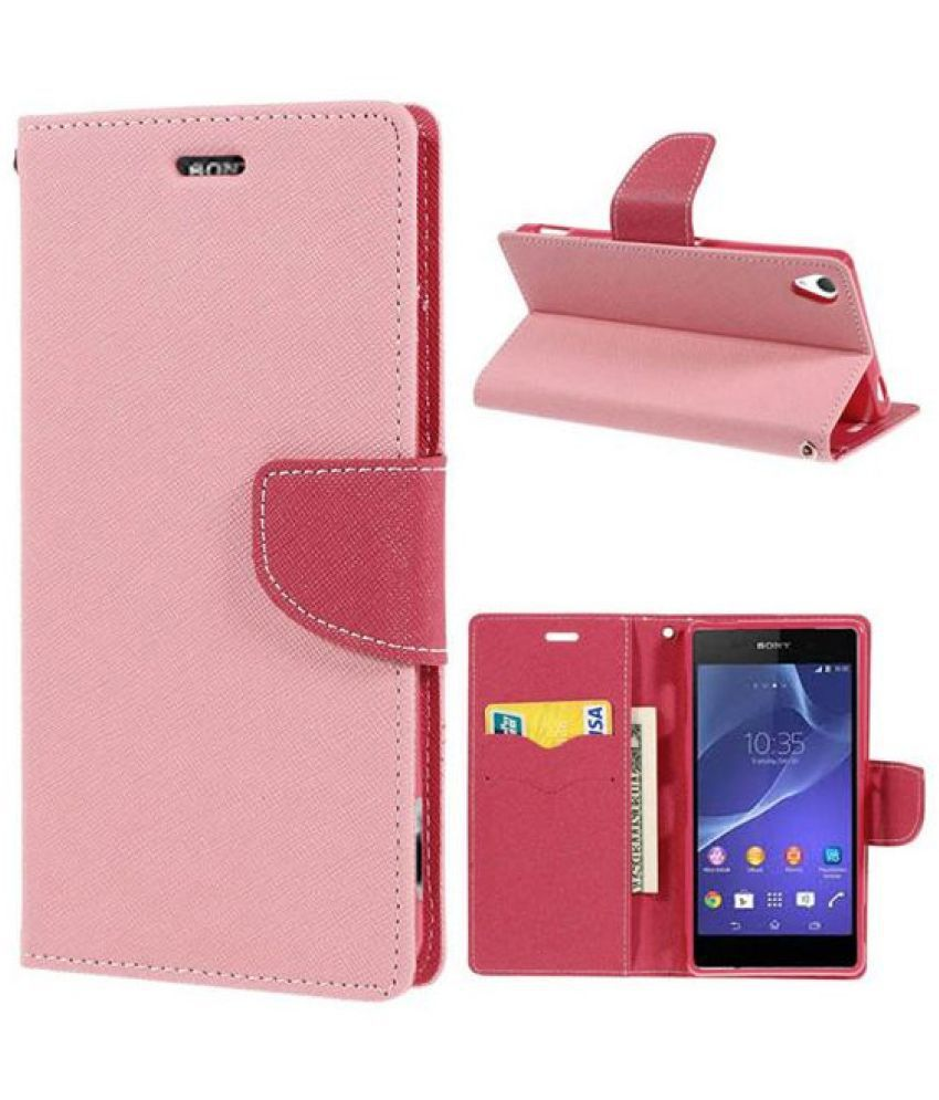 Samsung Galaxy Grand 2 Flip Cover by Avix - Pink
