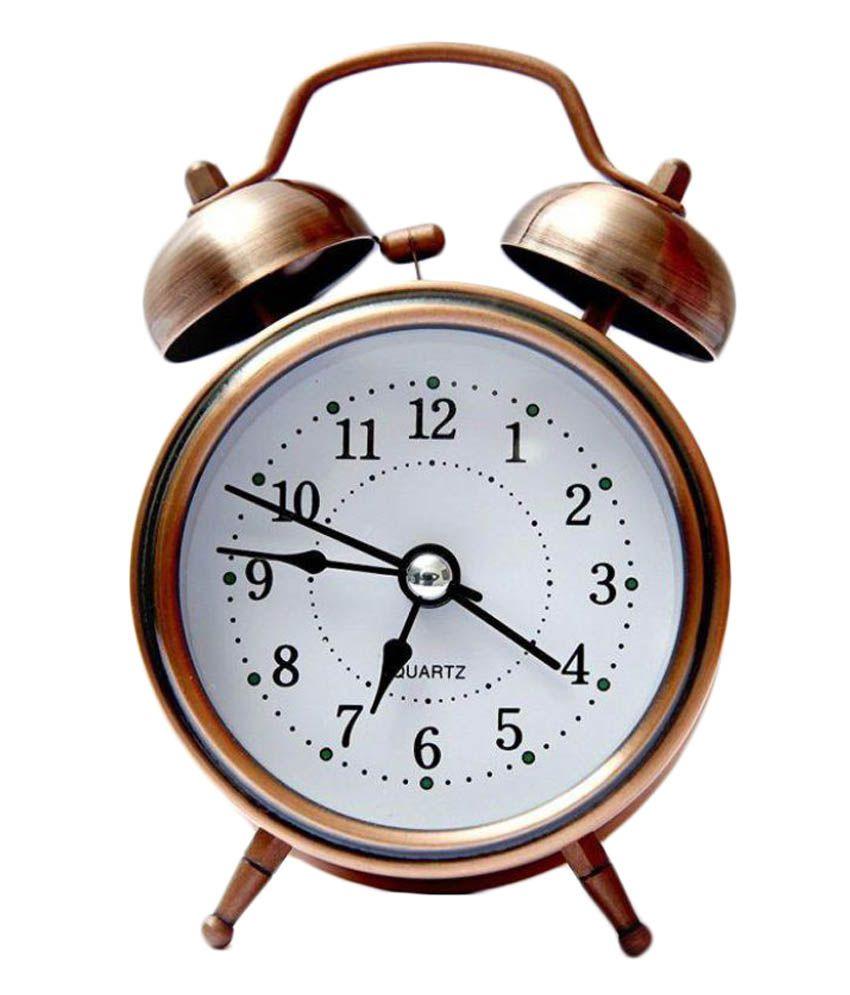 shophills analog vintage alarm clock buy shophills analog vintage alarm clock at best price in. Black Bedroom Furniture Sets. Home Design Ideas