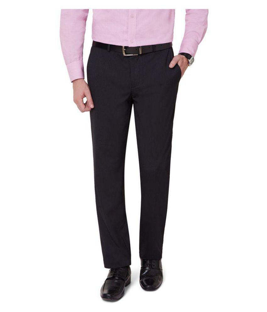 Ovation Black Slim Flat Trouser