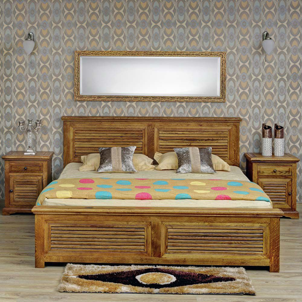 Evok Riviera Solid Wood King Size Bed