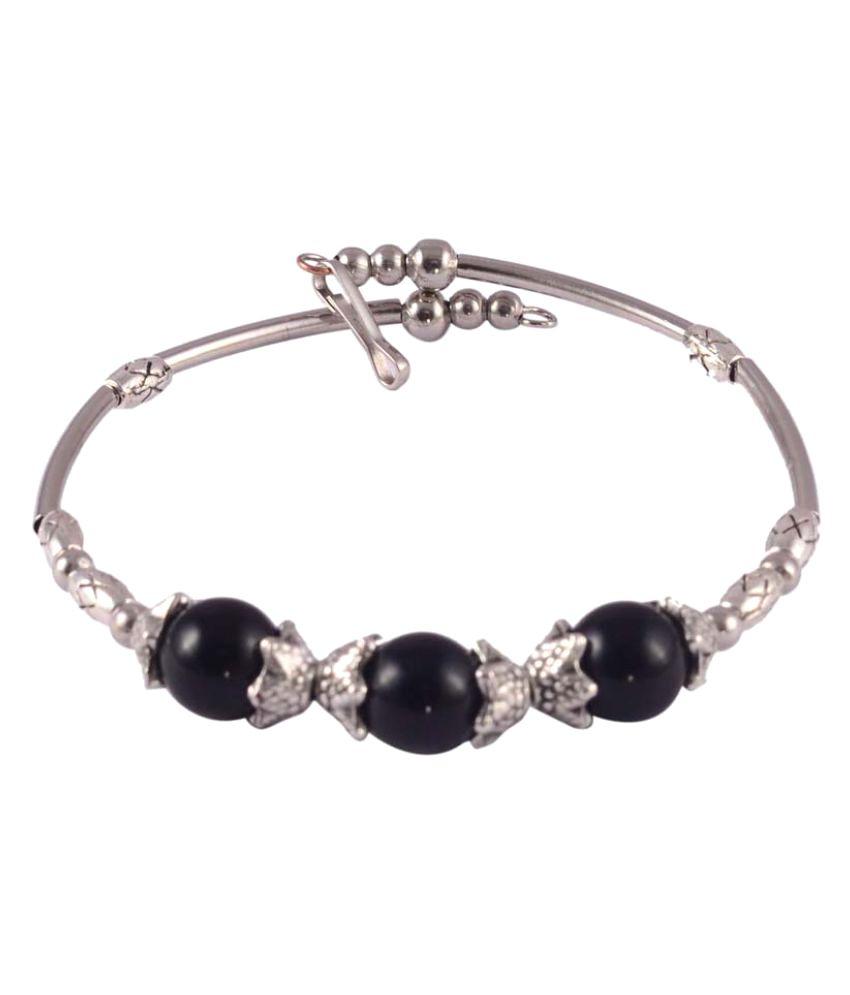 Jewelizer Silver Alloy F- Bracelets