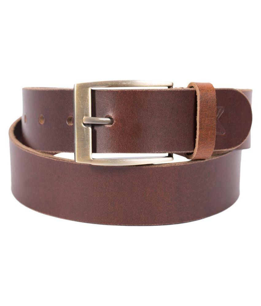 JX Brown Leather Formal Belts