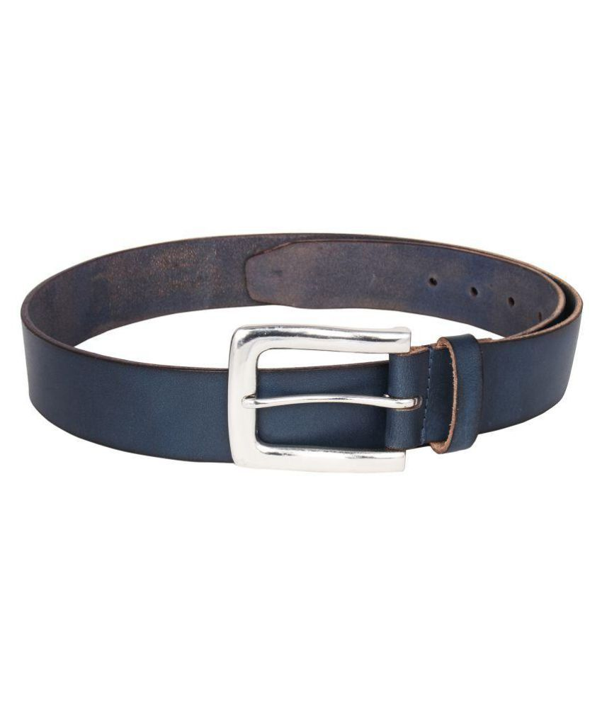 JX Blue Leather Formal Belts