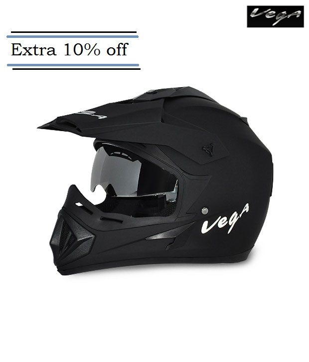 Vega Off Road - Full Face Helmet Dull Black M