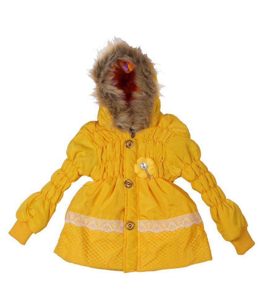Greentree Yellow Winter Wear Girls Jacket