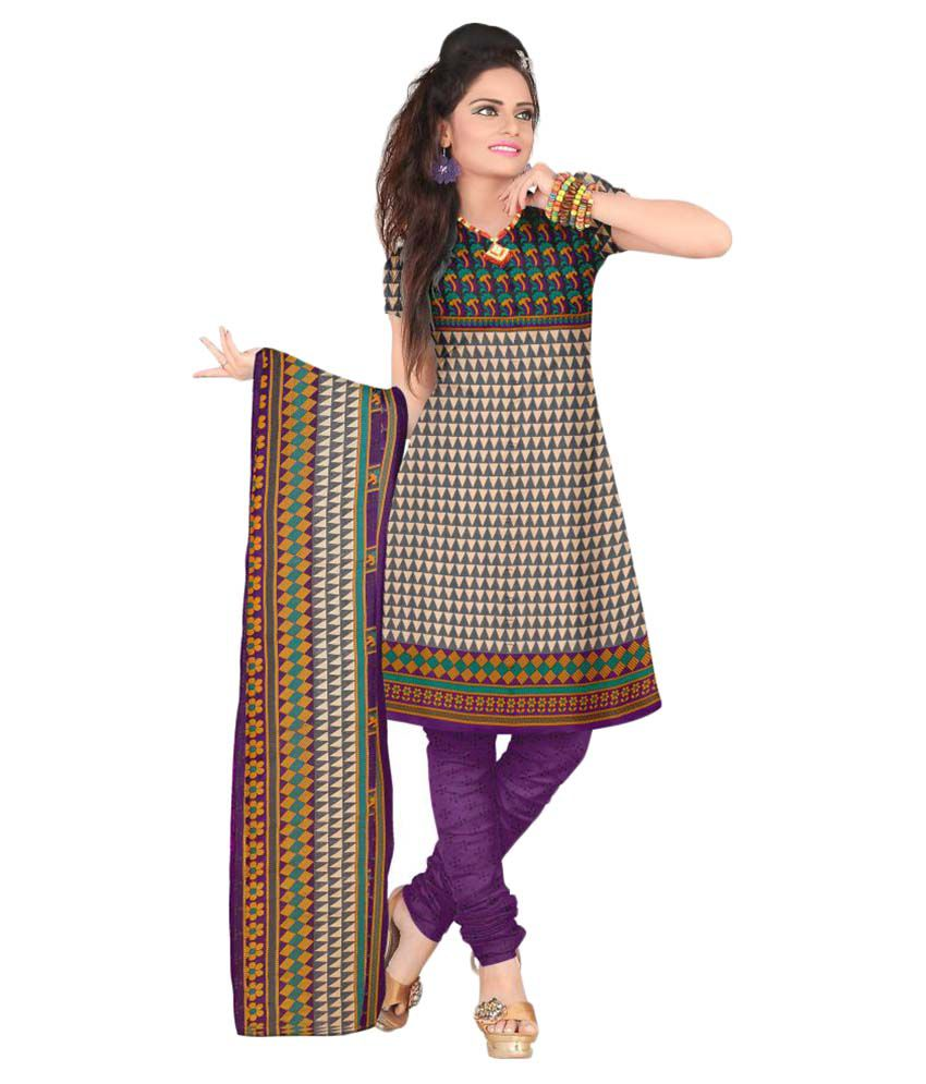 Latest Fancy Designer Multicoloured Crepe Dress Material