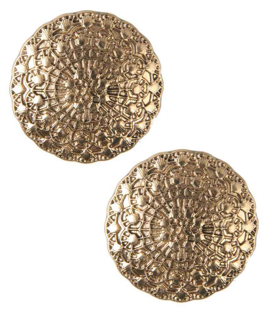 Jewelizer Golden Alloy Stud Earring