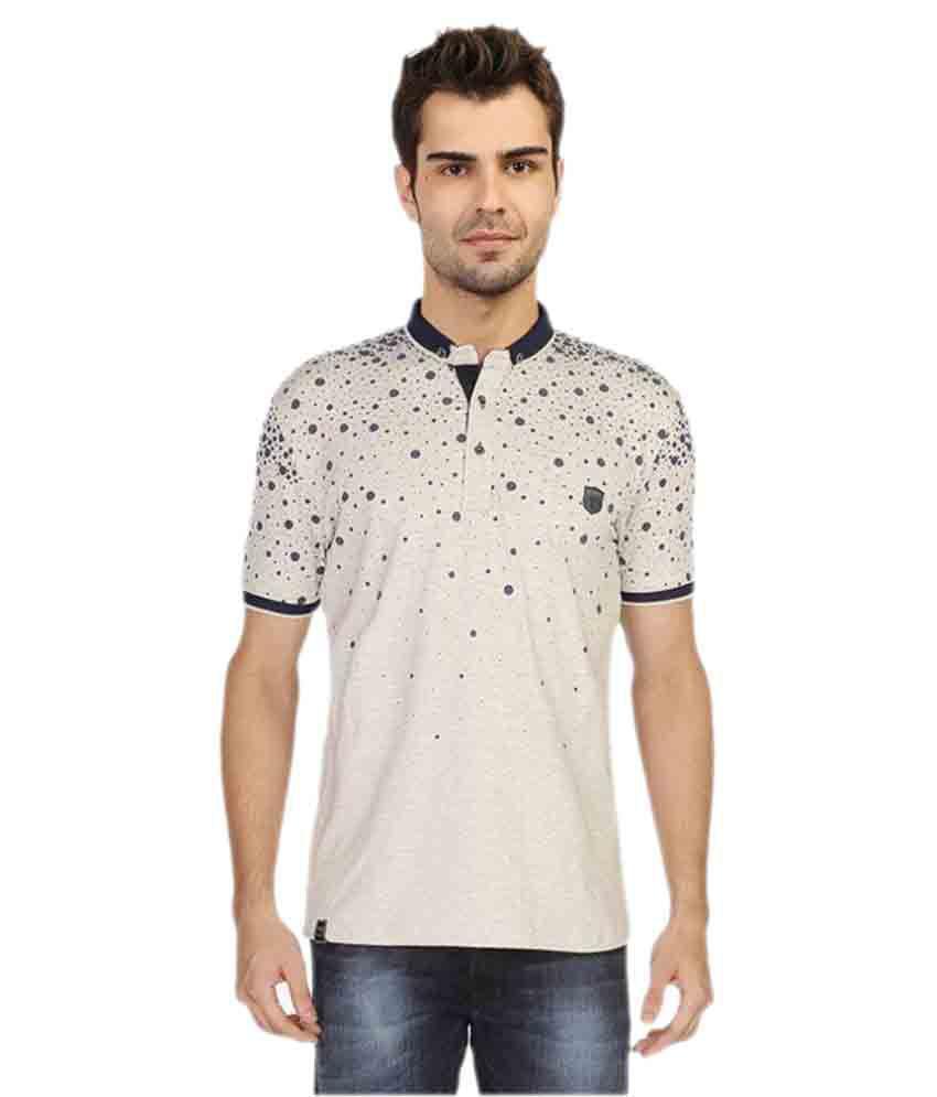 Stride Beige Henley T-Shirt