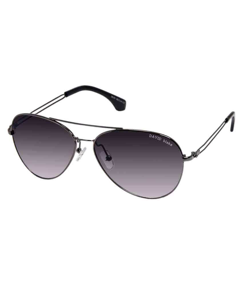 David Blake Grey Aviator Sunglasses ( 18101 )