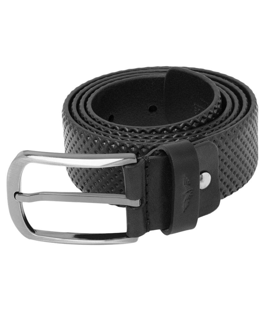 Park Avenue Black Leather Casual Belts