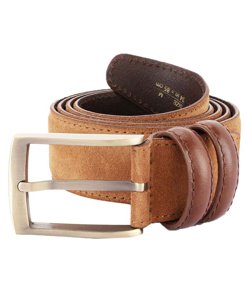 ColorPlus Beige Leather Casual Belts