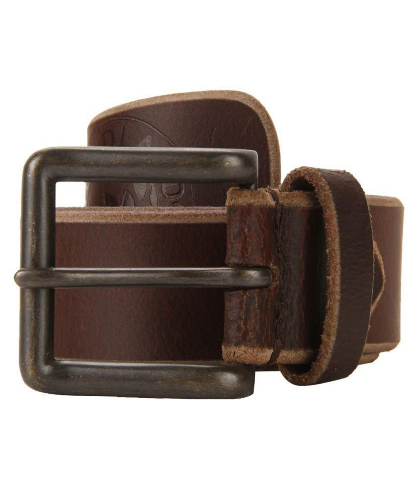 Woodland Brown Leather Casual Belts