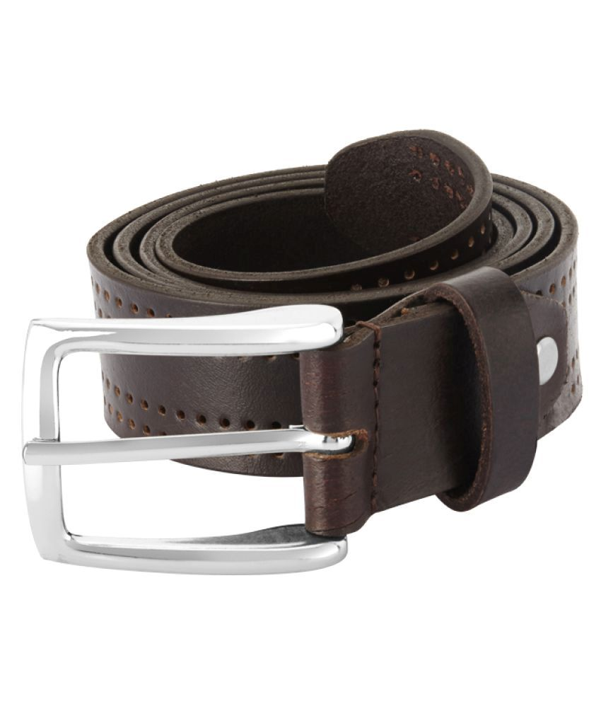 Parx Brown Leather Casual Belts