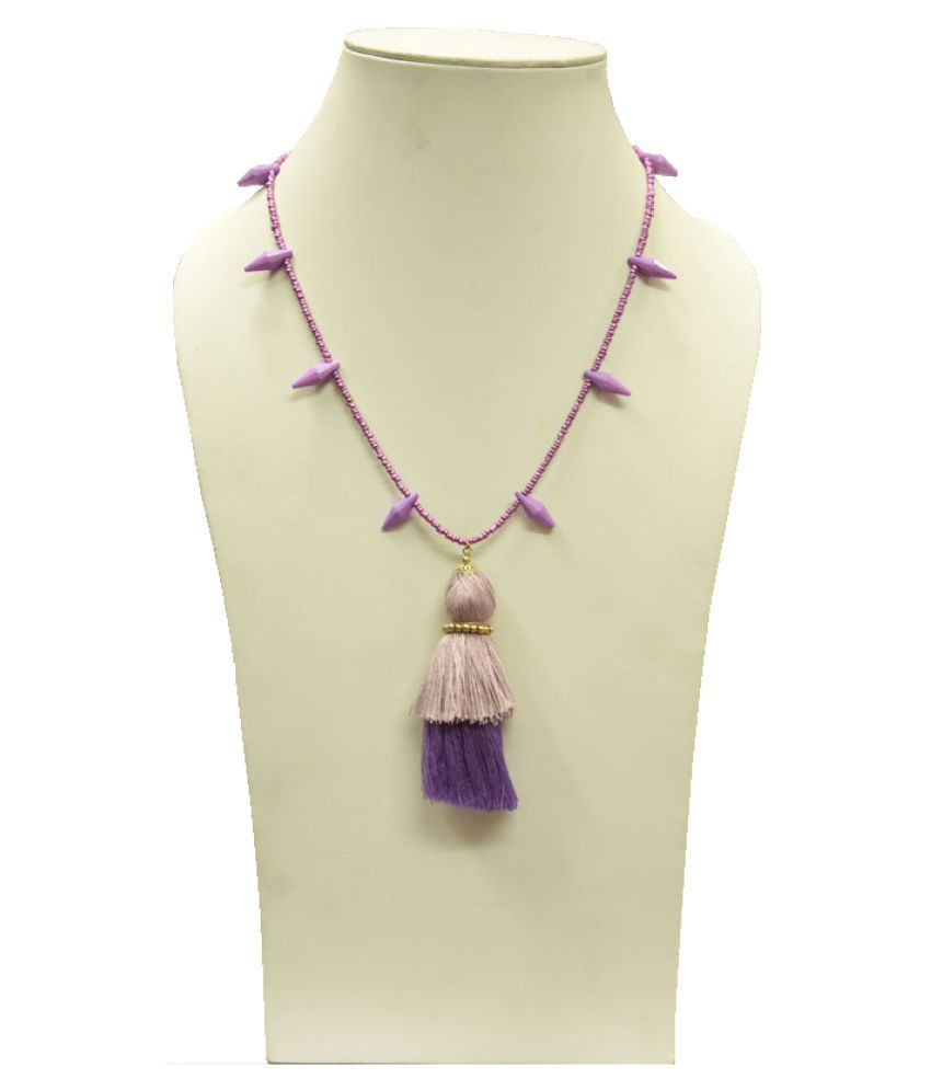 Beads India Purple Necklace