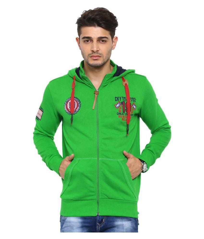 Showoff Green Hooded Sweatshirt