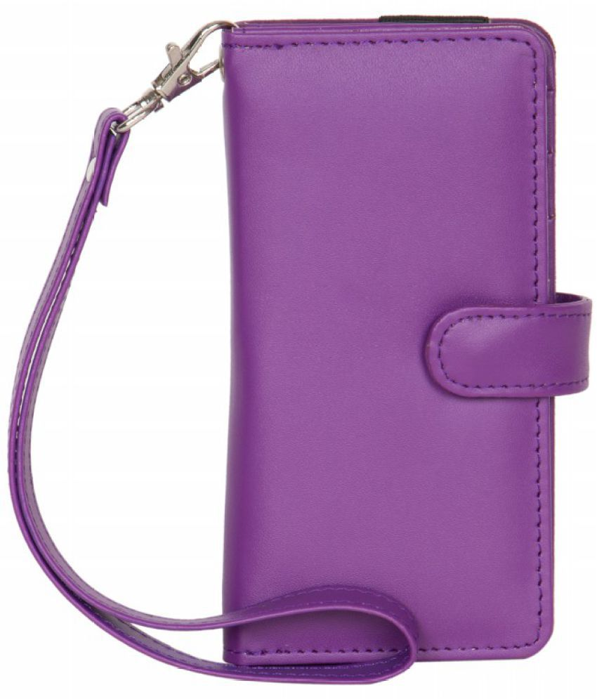 Micromax Canvas Juice A77 Holster Cover by Senzoni - Purple