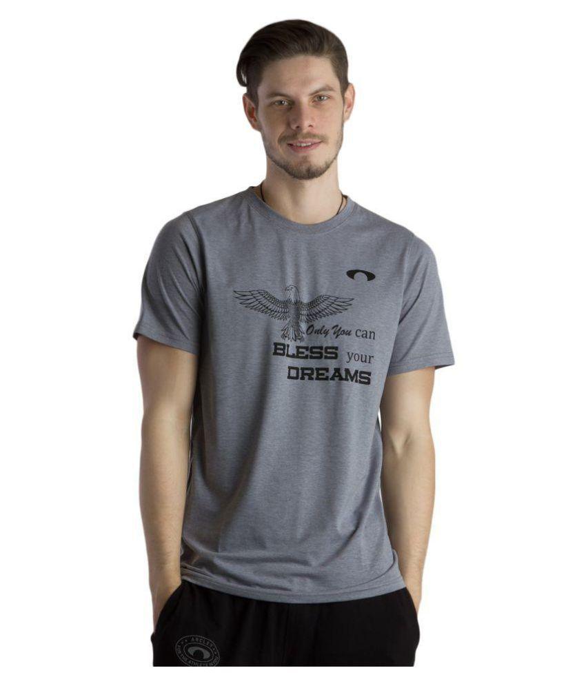 Arcley Grey Cotton T-Shirt Single Pack