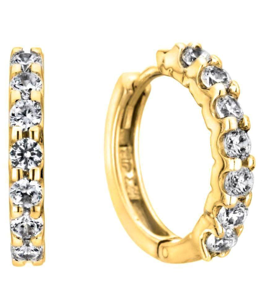 Kiara Jewellery 92.5 Silver Cubic zirconia Hoop