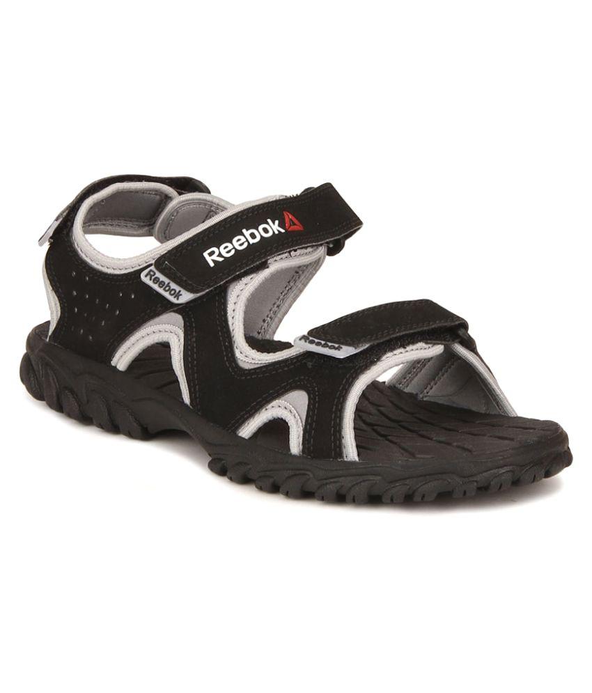 Reebok Reebel Black Floater Sandals
