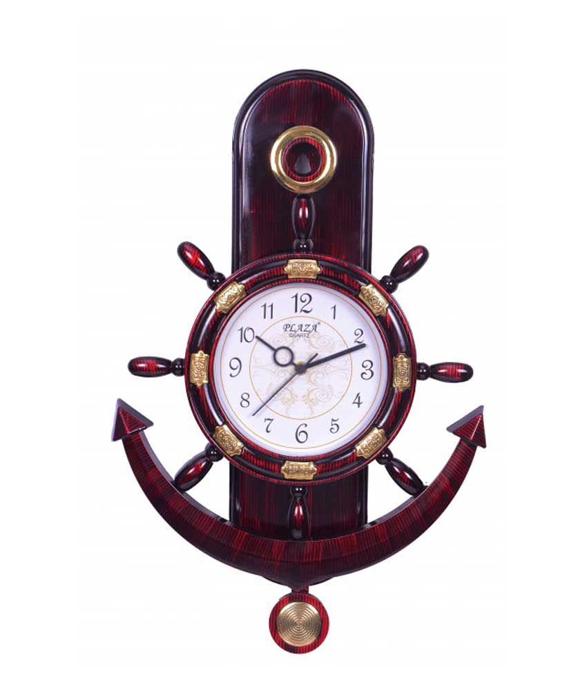plaza quartz motion anchor and steering design pendulum wall clock