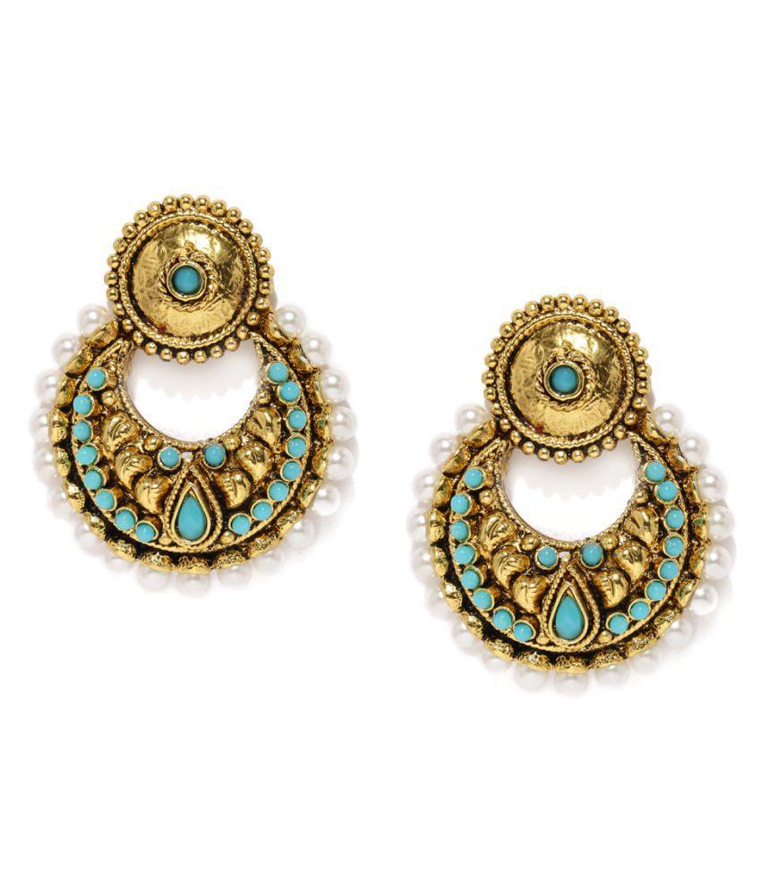 Zaveri Pearls Multicolor Earrings