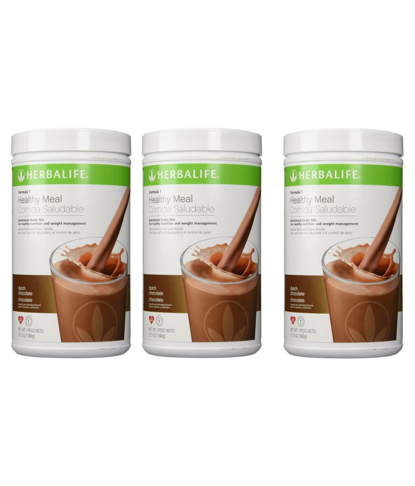 Herbalife Formula 1 Shake 500g Weight Loss Dutch Chocolate Flavour Powder Pack Of 3