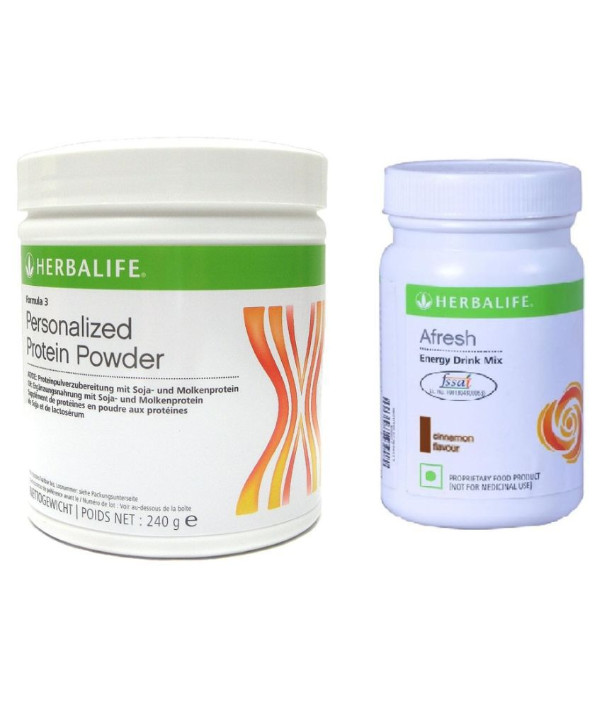 Herbalife Afresh Energy Drink mix Cinnamon and Personalized Protein Powder