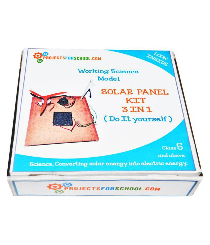 Solar panel 3 in 1 do it yourself science project kit buy online at solar panel 3 in 1 do it yourself science project kit solutioingenieria Gallery