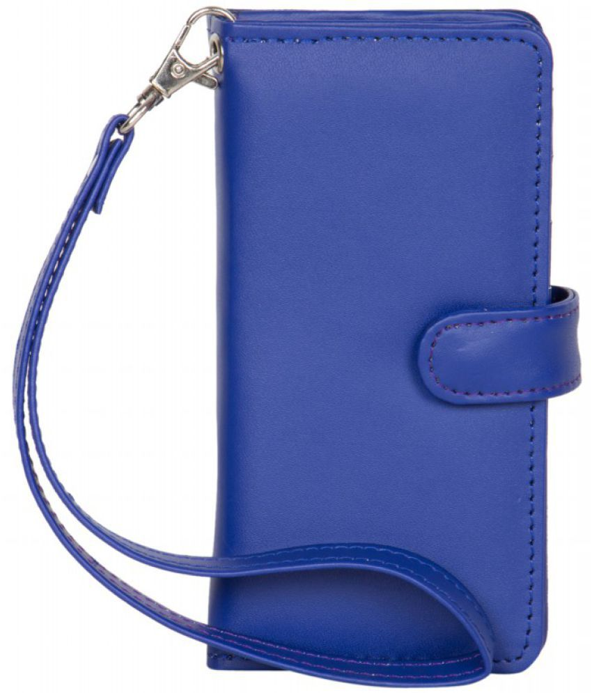 Micromax Canvas Juice 4G Q461 Holster Cover by Senzoni - Blue