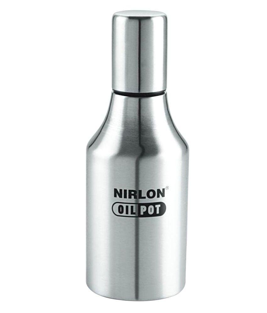 nirlon oil dispenser pot stainless steel steel oil container dispenser set of 1 buy online at. Black Bedroom Furniture Sets. Home Design Ideas