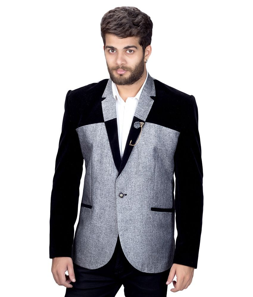 Mark Estilo Grey Color Block Party Blazers