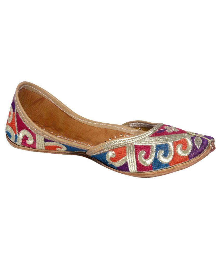 Panahi Multi Color Flat Ethnic Footwear