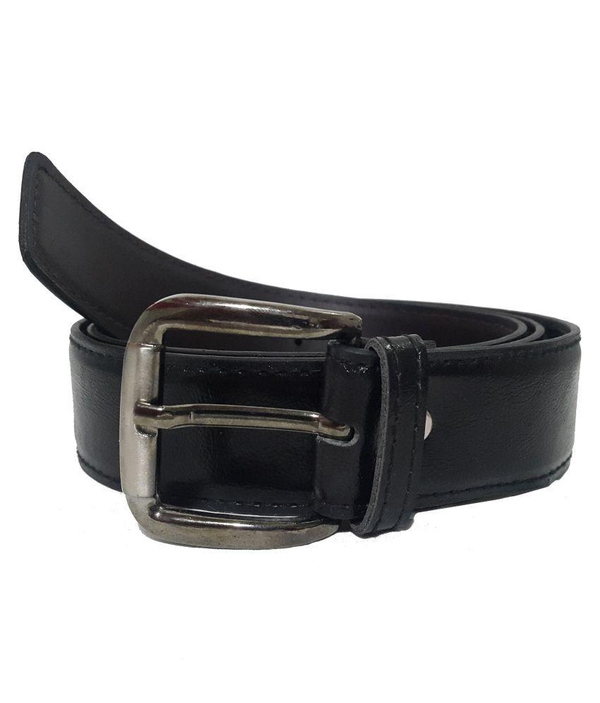 Paul London Black PU Formal Belts