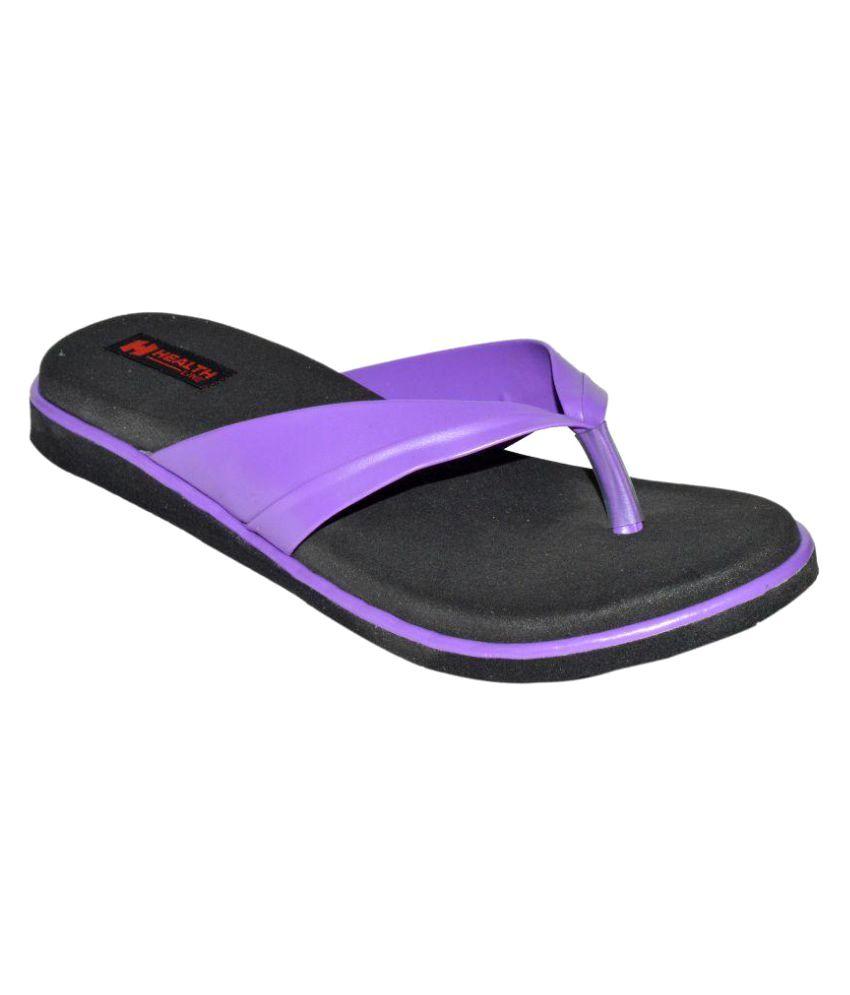 Health Line Purple Slippers
